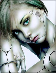 Green eyed cyborg