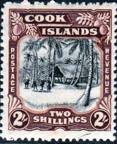 Cook Island 1944 King Georgv VI SG 144 Fine Mint SG 144 Scott 123 Other British Commonwealth Empire and Colonial stamps for sale Here