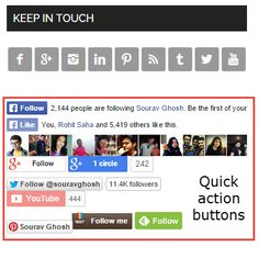 Do you have Social Media follow buttons in your blog?