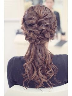 リサ(risa) – From Parts Unknown Pretty Hairstyles, Braided Hairstyles, Wedding Hairstyles, Pretty Braids, Hairdo Wedding, Hair Arrange, Cool Hair Color, Queen, Hair Trends