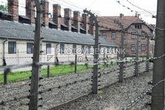 Campo de Concentração Auschwitz-Birkenau, Polônia | PHOTOVIDEOBANK Campo de Concentração Auschwitz-Birkenau, Polônia, download imagens de Auschwitz II maior campo de concentração nazista da Europa, Museu do Estado Auschwitz-Birkenau cerca de arame farpado.