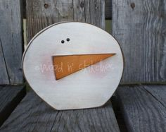 primitive turkey wood   SnOwBaLL primitive wood winter chri stmas snowflake snowball snowman ...