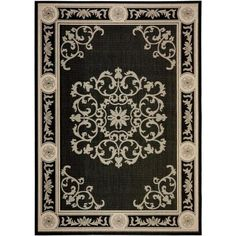 Safavieh Courtyard Black/Sand 8 ft. x 11 ft. Indoor/Outdoor Area Rug-CY2914-3908-8 - The Home Depot