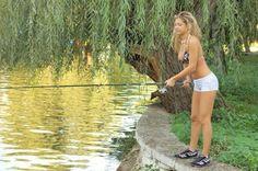 Stacy fishing