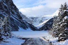 Lake Louise Banff Canada in December [OC] [51843456] #reddit