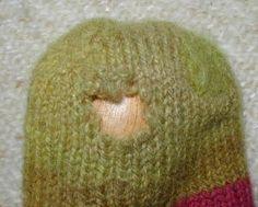 Fantastic darning (repair) tutorial! #knitting #repair #darning #socks