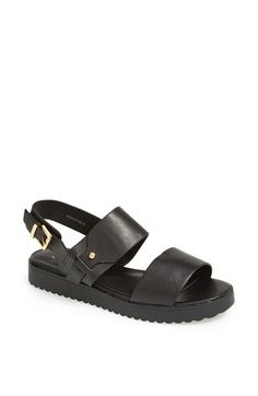 Free shipping and returns on Topshop 'Hydrate' Faux Leather Sandals at Nordstrom.com. Wide bands across the front and a buckled strap around the back makes these sandals perfect for treks to and from the pool.