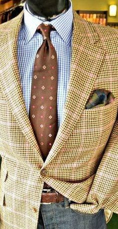 men's suits – High Fashion For Men Great Mens Fashion, Mens Fashion Suits, Mens Suits, Brown Sport Coat, Tweed Sport Coat, Style Costume Homme, Types Of Suits, Bon Look, Classy Suits