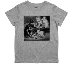 El Cheapo Family of Cats (Black) Toddler Grey Marle T-Shirt