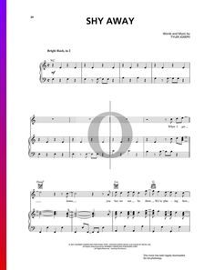 Play Shy Away by Twenty One Pilots now on Piano. You can find the sheet music on www.oktav.com #piano #sheetmusic #pianosheetmusic