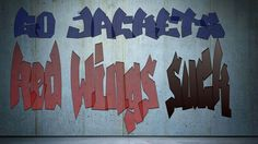 Graffiti - on the eve of the Blue Jackets taking on the Red Wings.