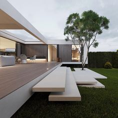11 Houses with Modern Architecture and Design Bauhaus Architecture, Modern Architecture Design, Minimalist Architecture, Modern House Design, Indian Architecture, Architecture Drawings, Roman Architecture, Architecture Portfolio, Computer Architecture