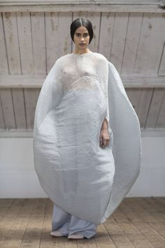 Sculptural Fashion - cocoon dress with soft billowing silhouette; 3D fashion; wearable art // Nathalie McCubbin