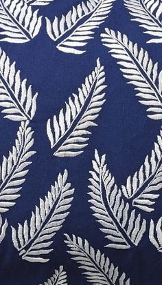 It always feels like the tropics with our Embroidered Fern Outdoor Lumbar Pillow. Lumbar Pillow, Throw Pillows, Rhapsody In Blue, Colour Board, Color, Blue China, Jacquard Weave, Designer Pillow, Mold And Mildew