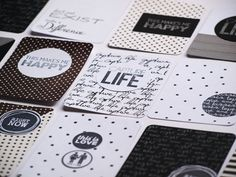 DIY black & white Project Life cards