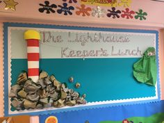 The Lighthouse Keeper's Lunch display board Year 2 Classroom, Minion Classroom, Kindergarten Bulletin Boards, Classroom Themes, School Displays, Classroom Displays, Primary Resources, School Resources, Lighthouse Keepers Lunch
