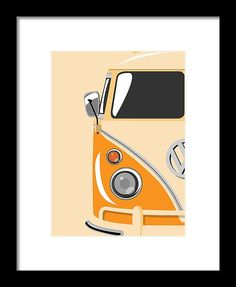 d6078905fbf Camper Orange Framed Print by Michael Tompsett. All framed prints are  professionally printed