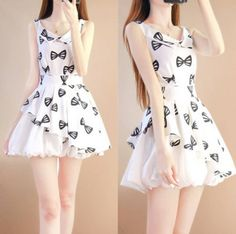"Sweet student printing sleeveless dress Coupon code ""cutekawaii"" for 10% off"
