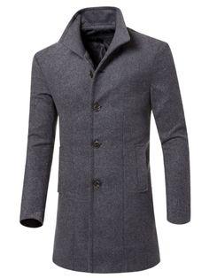 OTW Mens Stand Collar Zip Up Fall Winter Fleece Warm Solid Sweatshirt Jacket Coat Grey 2XL