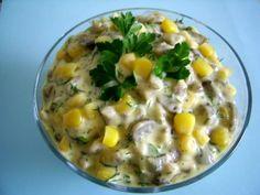 Reteta culinara Salata de ciuperci cu maioneza si porumb din categoria Salate. Cum sa faci Salata de ciuperci cu maioneza si porumb