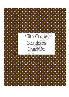Fifth Grade ELA Standards Checklist from Organizing with Mrs. Harris on TeachersNotebook.com -  (118 pages)  - This is a fifth grade checklist for the ELA Common Core Standards.  It includes all of the ELA standards and plenty of space to track individual student data!
