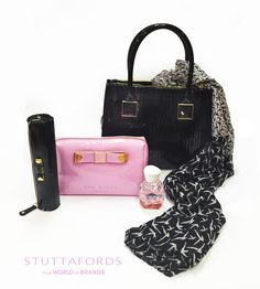 We love this selection of Ted Baker bags. Which one is your favourite? Find them at ‪#‎Stuttafords‬: Ted Baker bag R2299, Ted Baker cosmetics bag (black) R299.95, Ted Baker cosmetics bag (dusty pink) R499.95