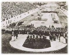 The opening ceremony in the Panathinaiko Stadium. The first Games held under the auspices of the IOC was hosted in the Panathenaic stadium in Athens in The Games brought together 14 nations and 241 athletes who competed in 43 events List Of Olympic Games, Helsinki, 1896 Olympics, Olympic Venues, Olympics Opening Ceremony, Melbourne, Atlanta, Greek History, Barcelona