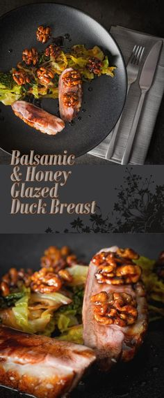 Balsamic and Honey Glazed Duck Breast is perfect date night food, fancy enough to impress but simple enough so you don't spend all night at the stove.