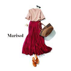 ベージュワントーンコーデから爽やかブルーコーデまで【アラフォー春の1週間コーデ】|Marisol ONLINE|女っぷり上々!40代をもっとキレイに。