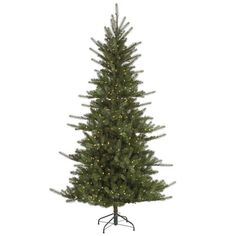 45 Slim Colorado Spruce Artificial Christmas Tree  Warm White LED Lights * Click image to review more details.