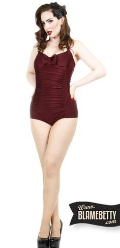 Knock em dead in the sexy Elizabeth Retro Bathing Suit <3 #blamebetty #pinupfashion #glamour