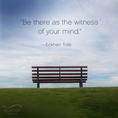 "14.5k Likes, 111 Comments - Eckhart Tolle (@eckharttolle) on Instagram: ""Be there as the witness of your mind. ~Eckhart Tolle #PresentMomentReminder"""