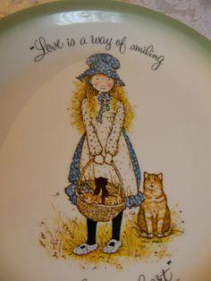 SALE  Holly Hobbie Plate  American Greetings by WhiteShepherd, $5.00