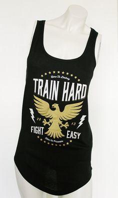 Train Hard Fight Easy workout tank M by LBombFitness on Etsy, $35.00