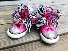 Items similar to Customized Bling Converse on Etsy Bling Converse, Baby Bling, Baby Shoes, Awesome Shoes, Trending Outfits, Unique Jewelry, Handmade Gifts, Sassy, Bows