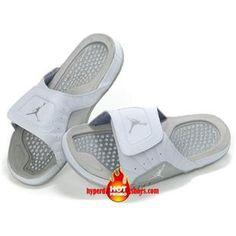 e7274871a61a4 Cheap Jordan Hydro V Premier Sandals White Metallic Silver