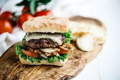 The Gagchtochter: Chorizo Burger with Grilled Mushrooms and Smoked Havarti #BeefFiesta (Favorite #BeefFiesta Recipe)