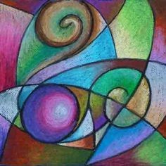 Here are some samples of my oil pastels. In 2006, I started a series based on my fascination with curved lines and how they relate to one another. Click on a thumbnail image for a larger view.