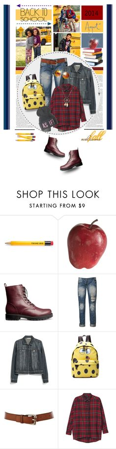 """""""Welcome Fall - Back to school"""" by anne-irene ❤ liked on Polyvore featuring H&M, Pier 1 Imports, Blonde + Blonde, MANGO, Moschino, Karen Millen, Monki, Chicnova Fashion and BackToSchool"""