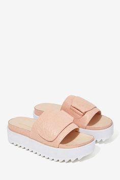 Intentionally Blank Return Zig Leather Slide Sandal - Shoes   Flats