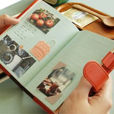 Leather Daily Planners. Warm illustrations printed, various pastel colors. Korean stationery for girl.