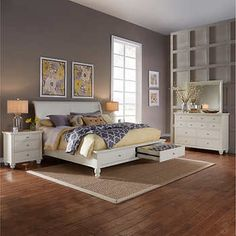 Ashfield 5 Piece Queen Storage Bedroom Set