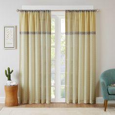 Intelligent Design Charlie Printed Multi Pattern Single Curtain Panel