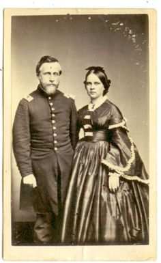 Unidentified couple, 1861-65. By Hessler Studio, Chicago Illinois.   In the…