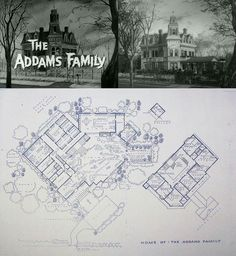 The Addams family floor plan. ♡♡♡