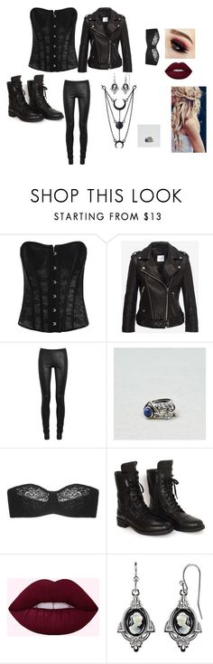 """""""outfit"""" by maaneringen22 ❤ liked on Polyvore featuring Rick Owens, American Eagle Outfitters, Wacoal, Chanel and 1928"""