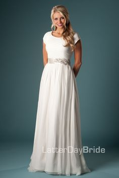 Modest Wedding Dresses : Roslyn. Available at Latterday Bride. Go ...