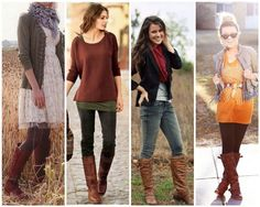 Christmas Ideas - Love the layered looks for all weather. Like all these sweaters/jackets.