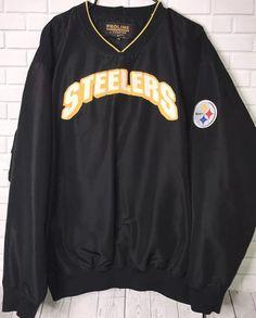 Vintage Pittsburgh Steelers windbreaker Men s Jacket Sz 2XL Starter ProLine   68e1ee551