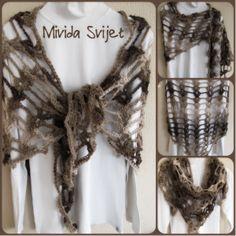 large crocheted triangle shawl